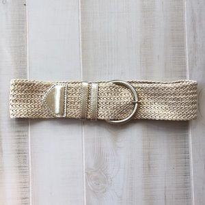 Express Woven Gold Threaded Belt